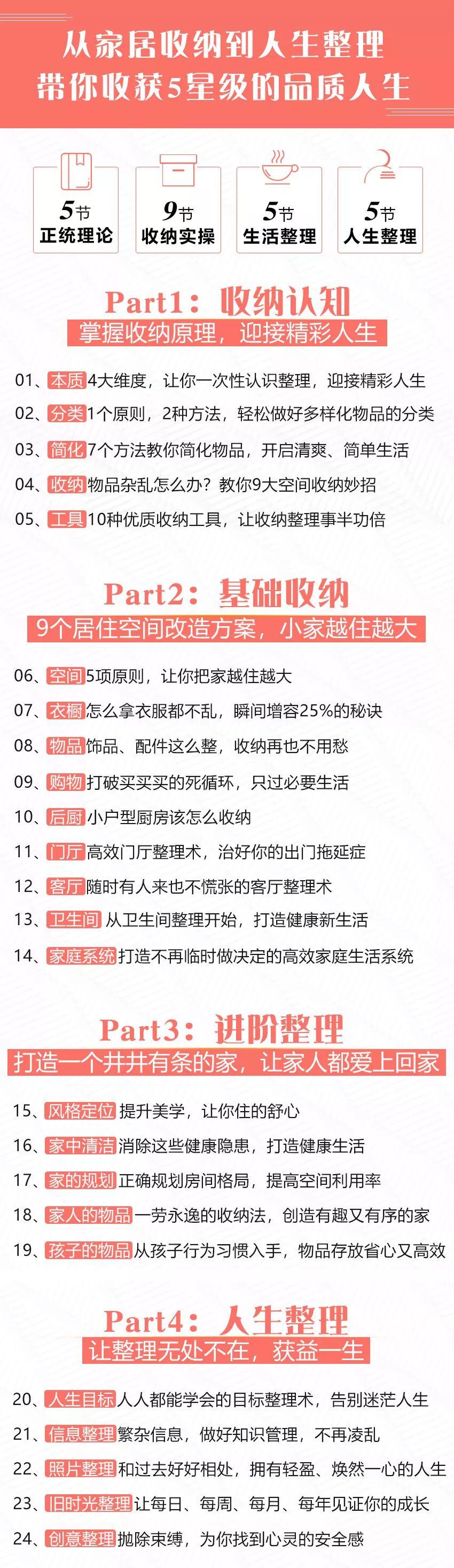 中国式家庭必备:24堂超级收纳课,还你干净清爽的精致生活!-第16张图片-爱课啦